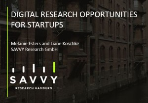 Digital research opportunities for Startups